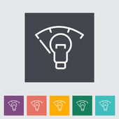 Car panel illumination — Stock Vector