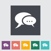 Chat flat icon. — Stock Vector