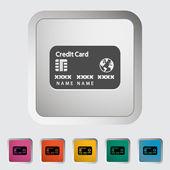 Credit card single icon. — Stock Vector