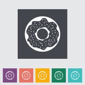 Donut flat icon — Stock Vector