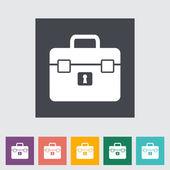 Briefcase single flat icon. — Stock Vector