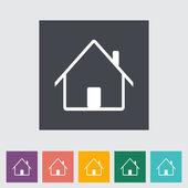 Home single flat icon. — Stock Vector