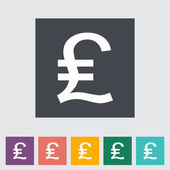 Pound sterling flat icon. — Stock Vector