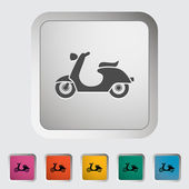 Scooter — Stok Vektör