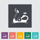Icon exercise bicycle. — Stock Vector