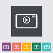 Video player flat icon. — Stock Vector