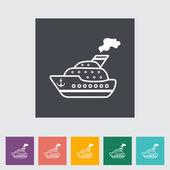 Ship flat icon. — Stock Vector