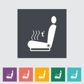 Icon heated seat. — Stock Vector
