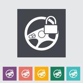 Icona di piatto volante auto. — Vettoriale Stock