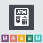ATM flat icon — Stock Vector