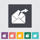 Envelope flat icon. — Stock Vector