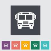 Bus flat icon. — Stock Vector