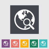 Global search single icon. — Stock Vector