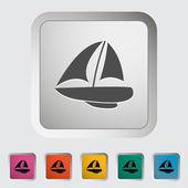 Yacht. — Vettoriale Stock