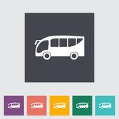 Bus flat icon — Stock Vector