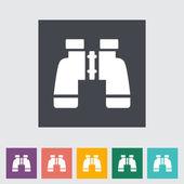 Binoculars icon — Stock Vector