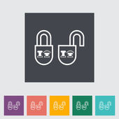 Locking doors — Stock Vector