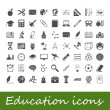 Education icons — Stockvektor