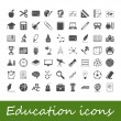 Stock vektor: Education icons