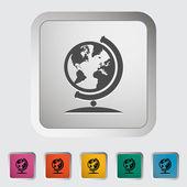 School globe — Stock Vector