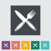 Cutlery single flat icon. — Stock Vector