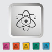 Atom icon — Stock Vector