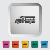 School bus flat icon. — Stock Vector