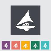 Jacht. — Stockvector