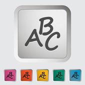 Alphabet icon — Stock Vector