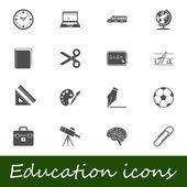 Education icons — Wektor stockowy