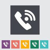 Phone single flat icon. — Stock Vector