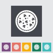 Pizza ikona — Stock vektor