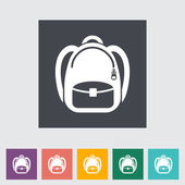 Schoolbag flat icon — Stock Vector