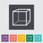 Geometric cube — Stock Vector