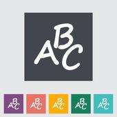 Alphabet flat icon — Stock Vector