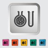 Icono chemisty — Vector de stock