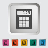 Calculator icon. — Vector de stock