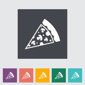 Pizza flat icon — Stock Vector
