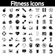 Fitness icons set — Stock Vector