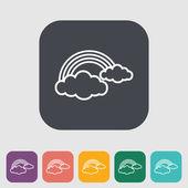 Rainbow single flat icon. — Stock Vector