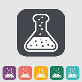 Chemisty flat icon — Stock Vector