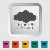 Sleet icon — Stock Vector