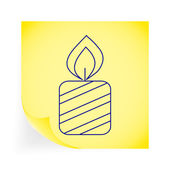 Candle — Stock Vector
