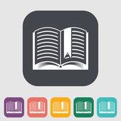 Książki. pojedynczy płaski ikona. — Wektor stockowy