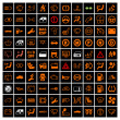 Car Dashboard Icons. — Stock Vector