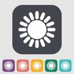 Sun single flat icon. — Stock Vector