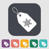Kerstmis label — Stockvector