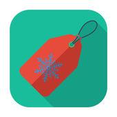Christmas tag — Stock Vector