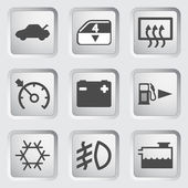 Car Dashboard icons — Vettoriale Stock