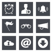 Icons for Web Design and Mobile Applications — Stock Vector